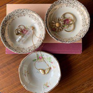 Vintage Mismatched Porcelain Trinket Dishes